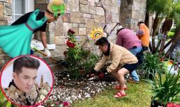 Đằng sau hình ảnh 'Ông hoàng', Đàm Vĩnh Hưng cũng có lúc giản dị khi tự trồng cây trong biệt thự tại Mỹ