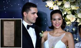 Thực đơn đãi khách trong đám cưới của MC Phương Mai có gì hấp dẫn?