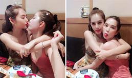 Đi chơi cùng nhau, Linh Chi không ngại hôn môi Ngọc Trinh