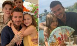 """Ông bố tuyệt phẩm David Beckham được công chúa Harper ôm chặt trong """"Ngày của cha"""""""