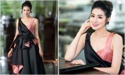 Á hậu Tú Anh chạy show 'mệt nghỉ' vẫn xinh đẹp rạng rỡ giữa trời nắng nóng kỷ lục