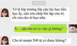 Bạn thời Tiểu học bỗng nhiên nhắn tin mượn tiền, chàng trai đáp trả một câu khiến kẻ vô duyên này cứng đơ họng