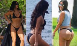 Khoe thân hình phồn thực trên biển, Kim Kardashian lại khiến dân tình rùng mình nhớ lại vòng 3 sần sùi, lồi lõm năm nào