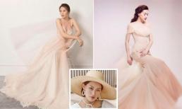 Đàm Thu Trang bị đồn mặc váy cưới na ná phong cách của Hồ Ngọc Hà, stylist Pông Chuẩn bức xúc thay cho bạn