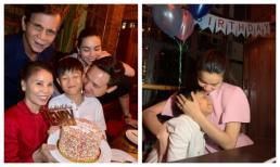 Tay trong tay cùng Kim Lý mang bánh kem cho con trai, Hà Hồ chơi lớn với quà sinh nhật độc và lạ