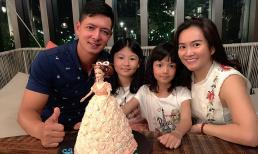 Vợ chồng Bình Minh - Anh Thơ giản dị mừng sinh nhật con gái út