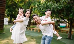 Chúc mừng sinh nhật ông xã thật ngọt ngào, Khánh Thi vô tình tiết lộ điều trùng hợp thú vị của chồng và hai con