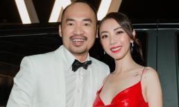 Thu Trang sexy 'ngộp thở', lộng lẫy váy đỏ bên cạnh ông xã Tiến Luật