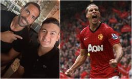 Đặng Văn Lâm 'nổi hết da gà' khi chụp hình cùng huyền thoại MU - Rio Ferdinand