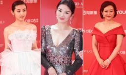 Bế mạc LHP quốc tế Thượng Hải: 'Tiểu Yến Tử' Huỳnh Dịch xuất hiện quyến rũ, đọ sắc với 'chị em bạn dì' đồng nghiệp