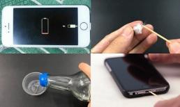 Đưa đầu tăm vào lỗ cắm sạc iPhone, tưởng dở hơi ai ngờ giúp sạc pin tốt hơn hẳn