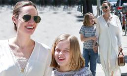 Angelina Jolie dành trọn thời gian cho các con, riêng cô út giờ lớn phổng phao, không quan tâm tin bố Brad Pitt tái hôn