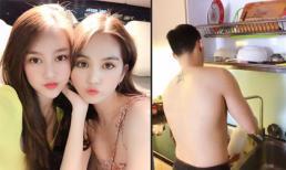 Sau nghi án đã đăng ký kết hôn, Linh Chi vui vẻ đi chơi với Ngọc Trinh, riêng Lâm Vinh Hải lại ở nhà rửa bát