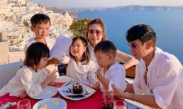 Đây là nhóc tì sang chảnh nhất Vbiz, được cả gia đình đưa sang Santorini tổ chức sinh nhật