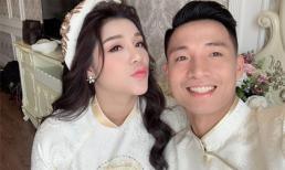 Bùi Tiến Dũng và bạn gái hot girl diện áo dài truyền thống rạng rỡ trước giờ đính hôn