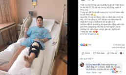Động thái đầu tiền của cầu thủ Trần Đình Trọng sau ca phẫu thuật dây chằng đầu gối tại Singapore