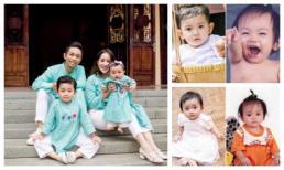 Khánh Thi đăng ảnh hai con và chồng thuở bé chứng minh số đẻ thuê