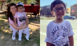 Bà xã Đan Trường tiết lộ bệnh khiến con trai thường xuyên phải đeo kính dù còn nhỏ tuổi