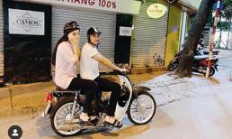 Á hậu Huyền My vui vẻ chia sẻ khoảnh khắc diện đồ giản dị, được 'hoàng tử' Đức Huy đèo trên xe máy