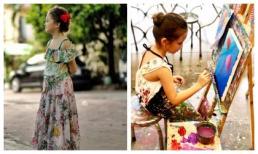 Con gái Hồng Nhung bộc lộ vẻ đẹp của mĩ nhân tương lai dù mới 7 tuổi