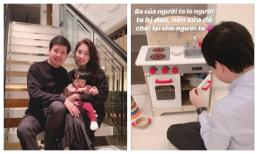 Dù là doanh nhân giàu có tài giỏi, ông xã Đặng Thu Thảo vẫn đích thân làm điều đáng yêu này cho con gái rượu
