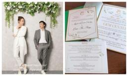 Lộ thiệp cưới cùng ngày giờ rõ ràng của hôn lễ Cường Đô La và Đàm Thu Trang