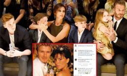 Kỷ niệm 20 năm kết hôn, vợ chồng David Beckham vẫn ngọt đến 'sâu răng', các con đồng loạt gửi lời chúc mừng