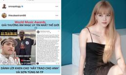 Rapper Snoop Dogg đăng tải bài khen Sơn Tùng M-TP từ tài khoản tên Thiều Bảo Trâm