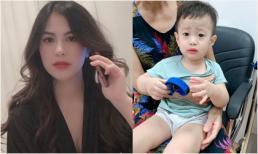 Vợ cũ Lê Việt Anh bất lực khi con trai liên tiếp ốm, không ăn được gì, gầy hóp mặt