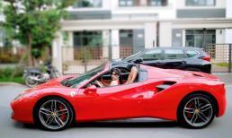 Vợ cũ Hồ Quang Hiếu gây chú ý khi lái siêu xe 16 tỷ giống Tuấn Hưng