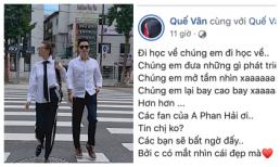 Đăng ảnh dạo phố cùng Việt Anh, Quế Vân 'kêu gọi' fan nam diễn viên tin vào mắt thẩm mĩ của mình
