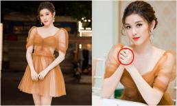 Á hậu Huyền My gây chú ý khi mặc váy xuyên thấu, đeo nhẫn hơn 1 tỷ đồng