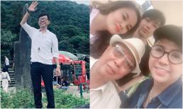 Sau lễ 49 ngày của 'người tình âm nhạc', Long Nhật cùng gia đình đi du lịch Quảng Ninh