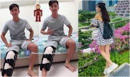 Bạn gái top 10 Hoa hậu đi Singapore thăm Phan Văn Đức, xoá tan tin đồn chia tay