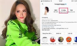 Hương Giang chính là Hoa hậu đầu tiên ở Việt Nam cán mốc 2 triệu lượt follower trên Instagram