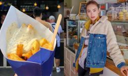 Đi du lịch siêng như Minh Hằng, xếp hàng sau vài chục người để mua được đồ ăn 'huyền thoại' ở Hà Lan