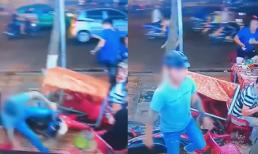 Thanh niên liều mình đâm xe máy vào bàn nhậu, khách hú vía tháo chạy