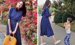 Trương Tử Lâm khoe vẫn mặc vừa váy từ 10 năm trước; con gái 3 tuổi lớn phổng với chiều cao khủng