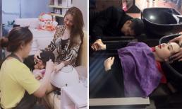 Linh Chi đăng ảnh Lâm Vinh Hải gục đầu vào đùi khi vợ làm nail, dân mạng tố 'làm màu', bắt chước Tâm Tít