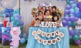 MC Diệp Chi tổ chức sinh nhật cho con gái nhưng thiếu bóng dáng của chồng