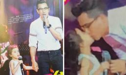 Lưu Khải Uy gây sốt khi hôn môi con gái Tiểu Gạo Nếp, điều mà Dương Mịch có lẽ không bao giờ dám làm trước công chúng