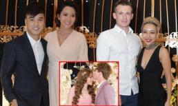 Trực tiếp đám cưới Thu Thủy: Vợ Ưng Hoàng Phúc vác bụng bầu khệ nệ, Thảo Trang cặp kè trai Tây đến chúc mừng cô dâu chú rể
