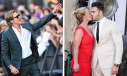 Brad Pitt lấy lại phong độ sau thời gian héo mòn; Britney Spears khóa môi phi công trẻ trên thảm đỏ