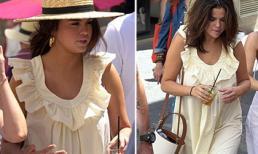 Không phải cứ lên đồ ra đường là nhìn ưng mắt, Selena Gomez mặc váy như bà bầu ở tuổi 27