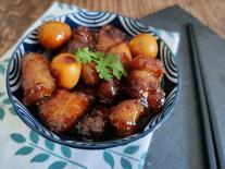 Thịt ba chỉ kho nước cơm và trứng chim cút: Món ăn đậm đà đưa cơm