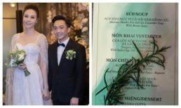 Không chỉ đầu tư cho không gian hôn lễ cổ tích, Cường Đô La còn chiêu đãi thực đơn toàn sơn hào hải vị