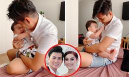 Lâm Khánh Chi đăng ảnh chồng vui đùa cùng con, dân mạng tiếp tục khen bé đẹp trai giống bố