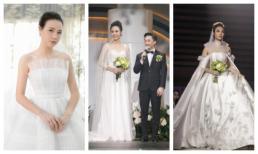 Cận cảnh 3 chiếc váy cưới của cô dâu Đàm Thu Trang: Trang phục cưới trong mơ của mọi cô gái
