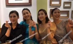Đỗ Mỹ Linh và Dương Tú Anh thân thiết tụ họp với hội chị em Hoa hậu