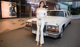 Khánh My chiếm hết spotlight với xe cổ đắt giá chuyên dành cho nguyên thủ quốc gia